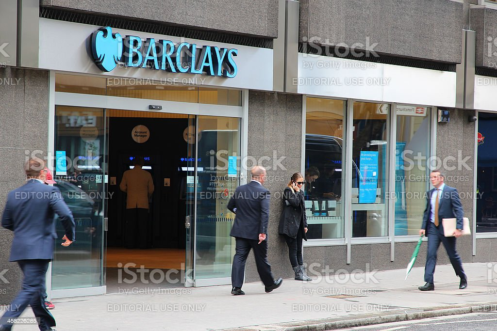 London - Barclays Bank stock photo