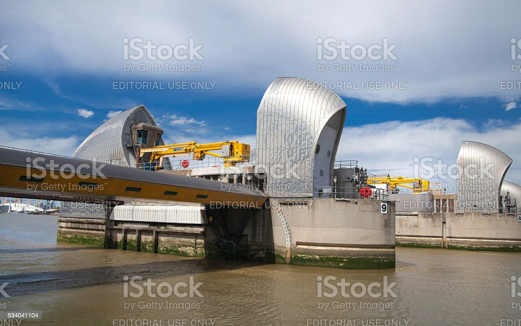 London barrier on the River Thames stock photo