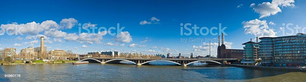 London Battersea panorama stock photo