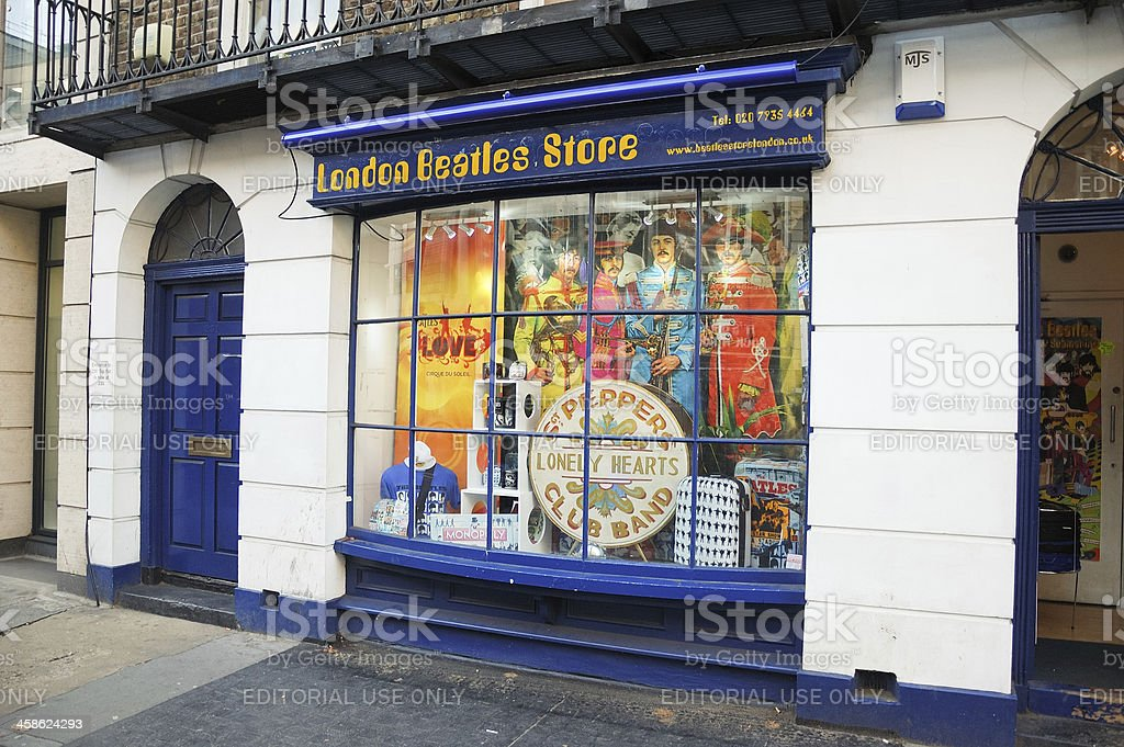 London Beatles Store stock photo