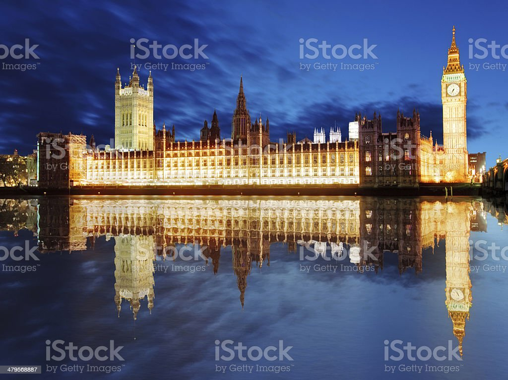 London - Big ben and houses of parliament, UK royalty-free stock photo