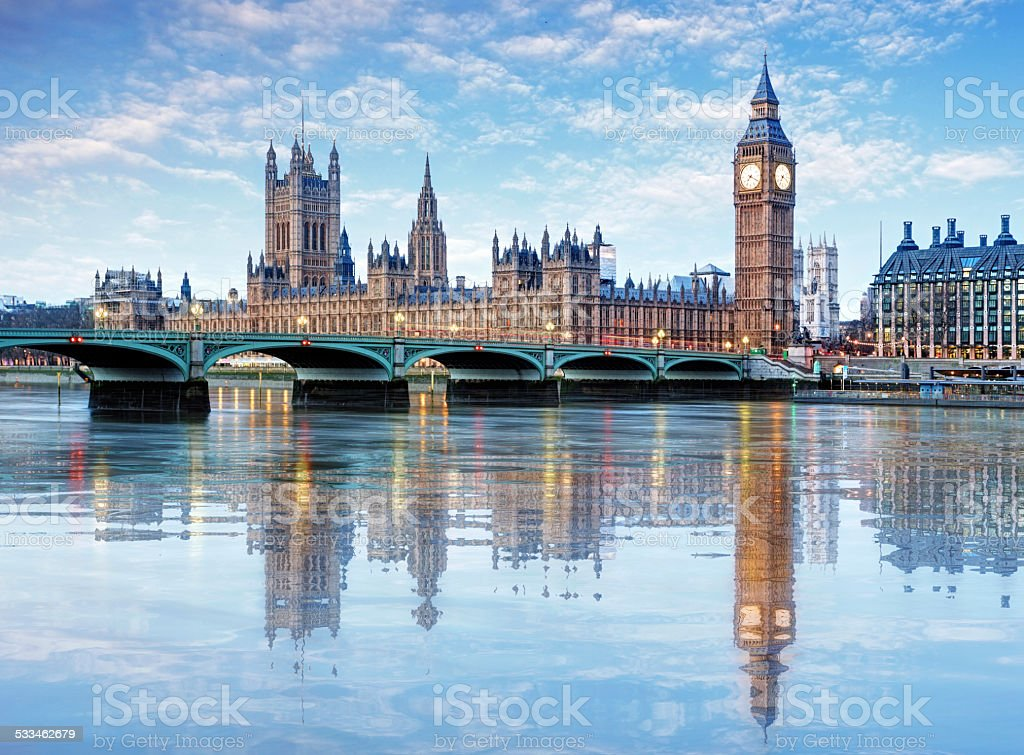 Londres, Big ben et palais de Westminster, Royaume-Uni - Photo