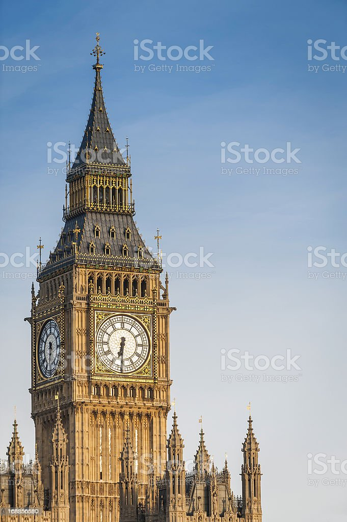 London Big Ben close up Houses of Parliament UK royalty-free stock photo