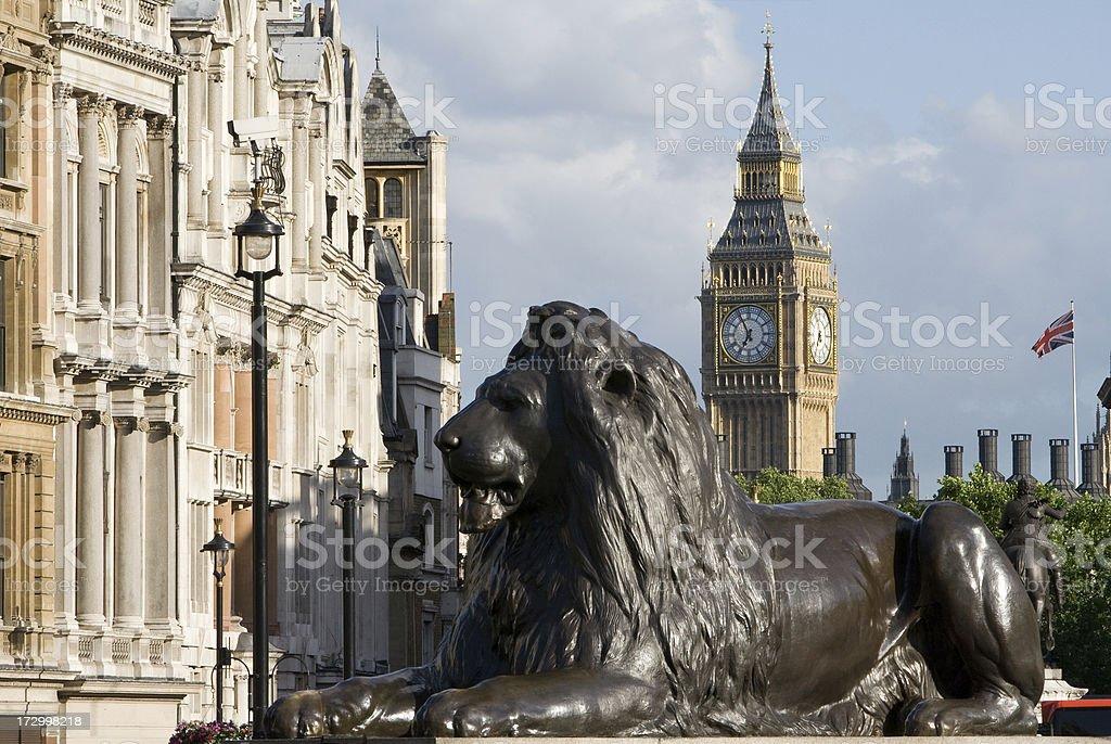 London. Big Ben From Trafalgar Square stock photo