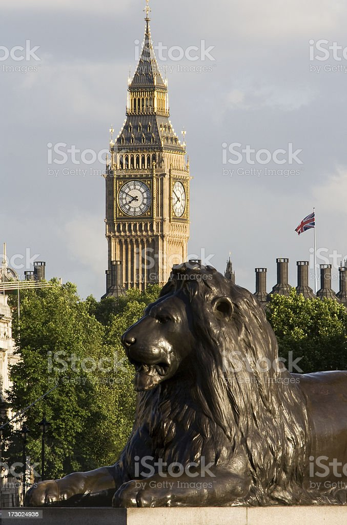 London. Big Ben From Trafalgar Square royalty-free stock photo