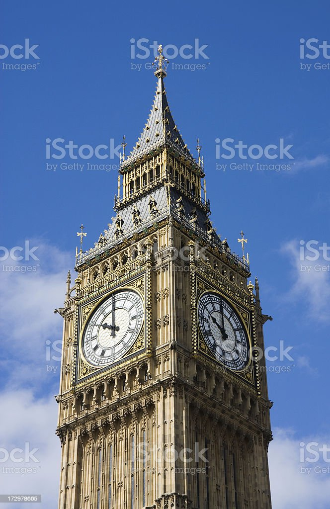 London. Big Ben Tower royalty-free stock photo