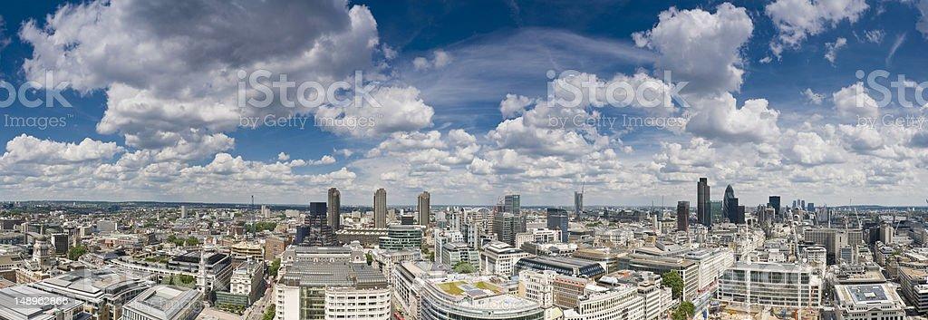 London big sky cityscape stock photo