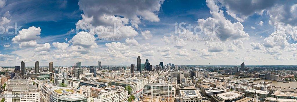 London big sky cityscape royalty-free stock photo