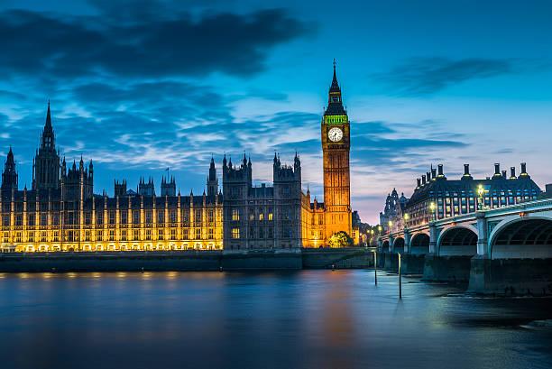 london bigben at night, uk, united kingdom - big ben stock photos and pictures