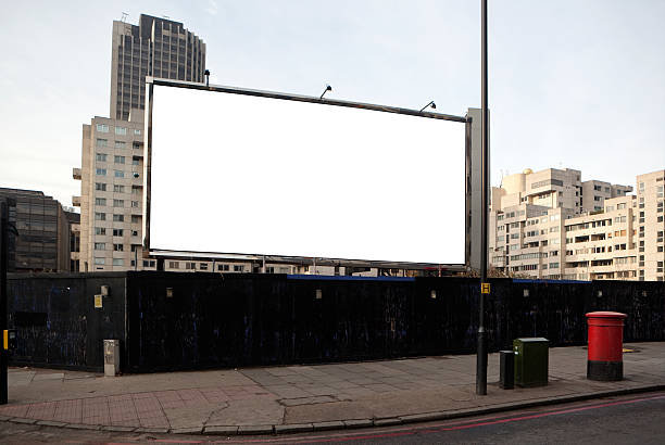 "London billboard ""a blank billboard in south London,UK"" billboard stock pictures, royalty-free photos & images"