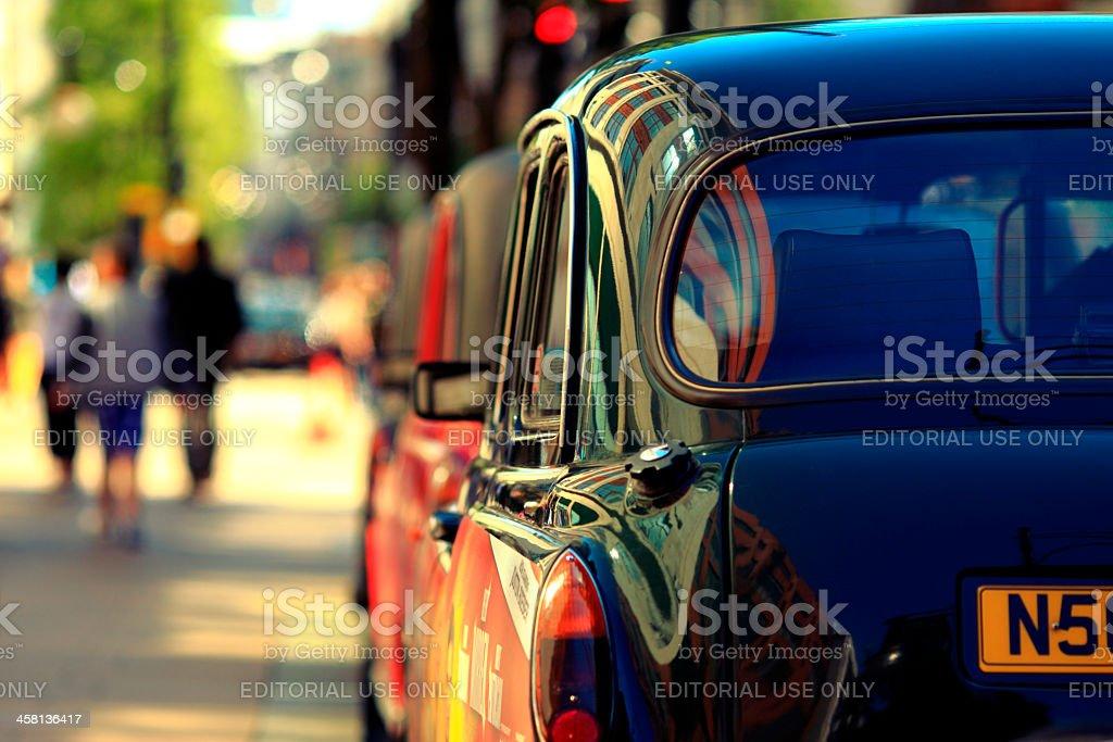 London Black Cab Detail stock photo