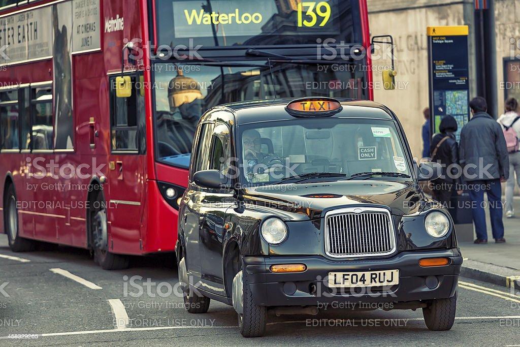 London Black Cab stock photo