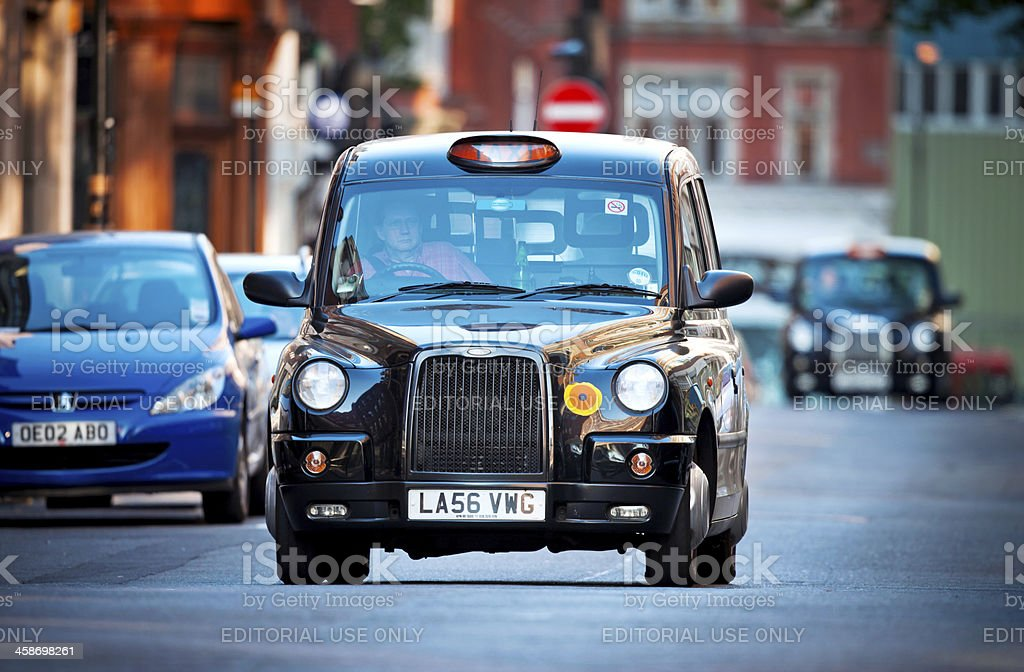 London Black Cab royalty-free stock photo