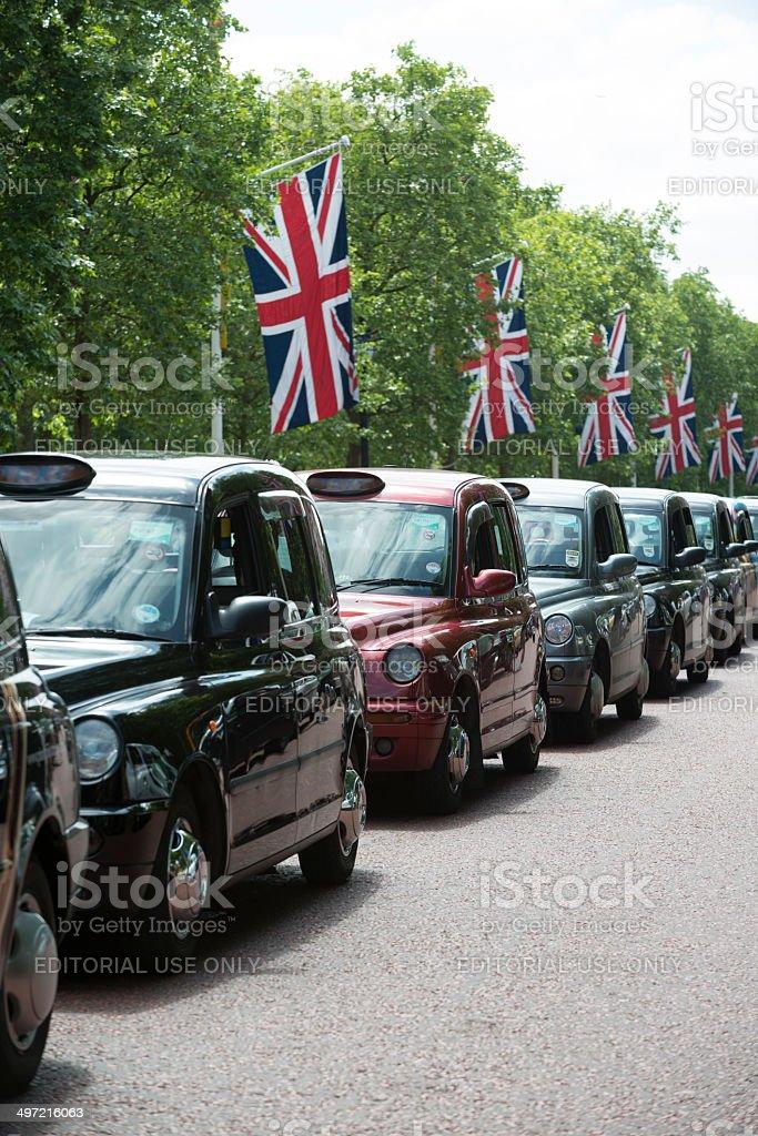 London Black Cabs stock photo