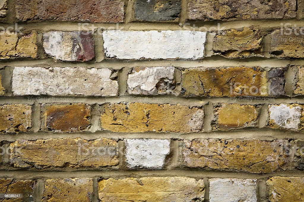 런던 벽돌전 벽 royalty-free 스톡 사진
