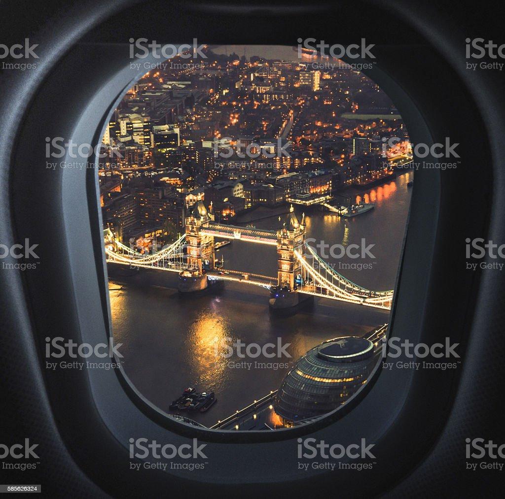 Puente de Londres, Vista aérea de adornos - foto de stock