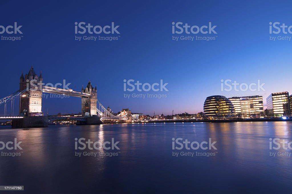 London Bridge and skyline royalty-free stock photo