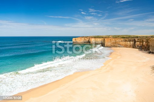 London Bridge Beach, Great Ocean Road, Victoria, Australia. Converted from RAW.