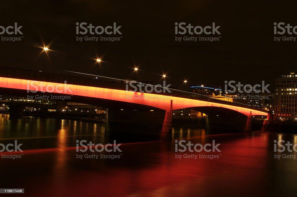 London bridge glowing red royalty-free stock photo