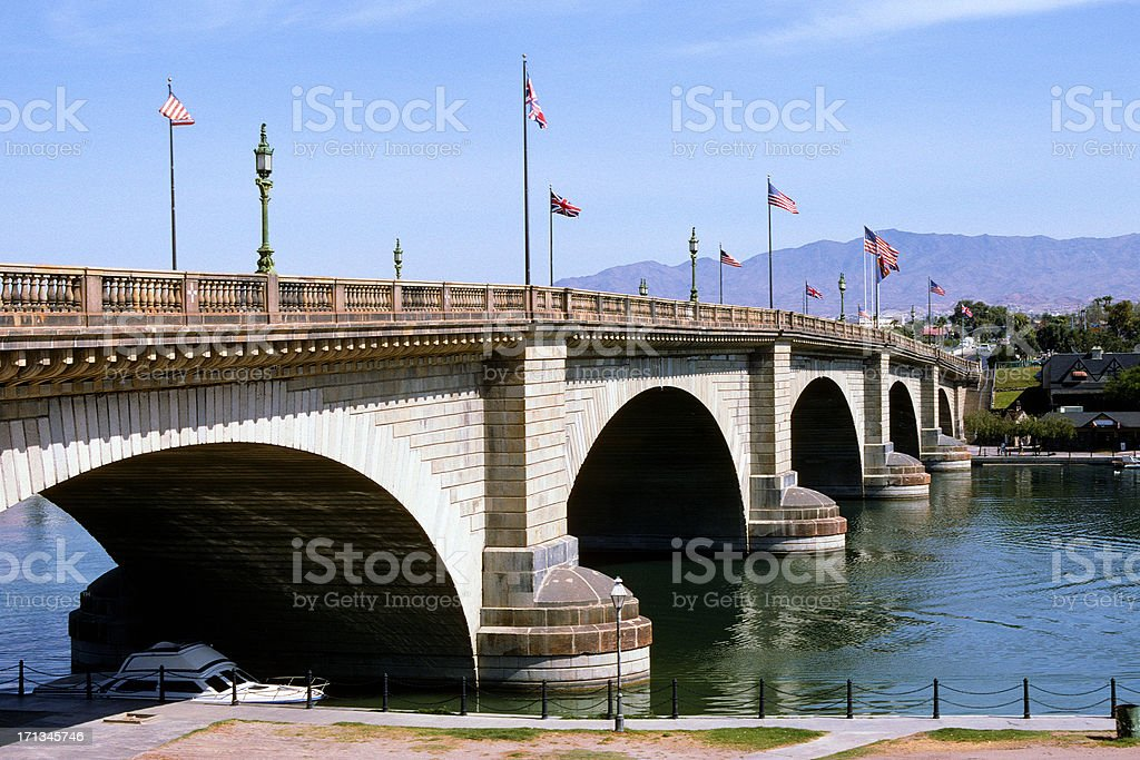 London Bridge in Lake Havasu royalty-free stock photo