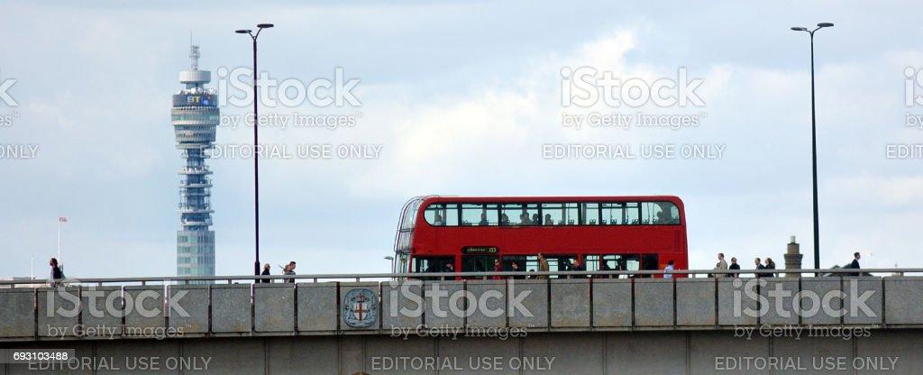 London Bridge in London UK stock photo