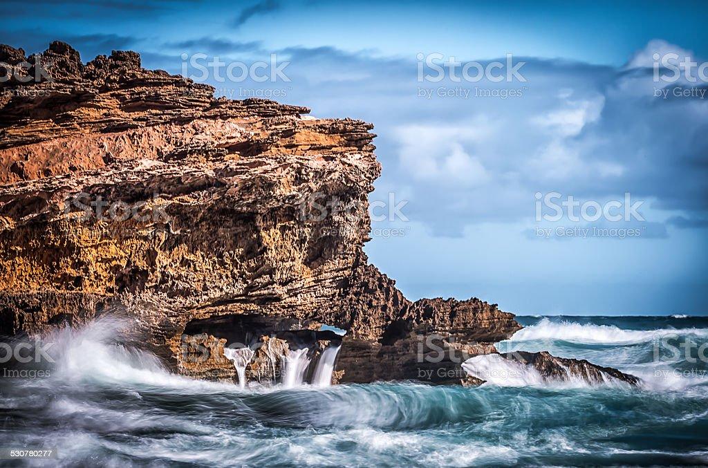 London Bridge Rock formation Portsea Australia stock photo