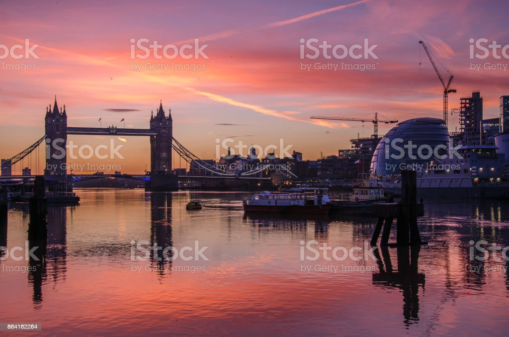 London Bridge Sunrise royalty-free stock photo