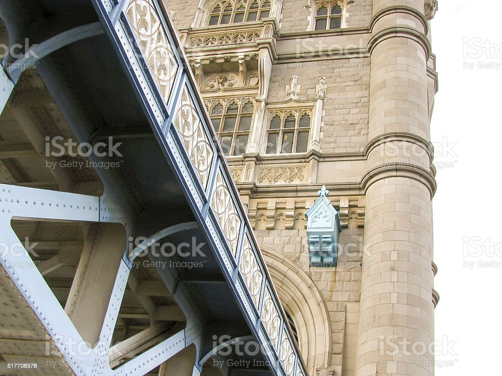 London bridge view from the downside stock photo