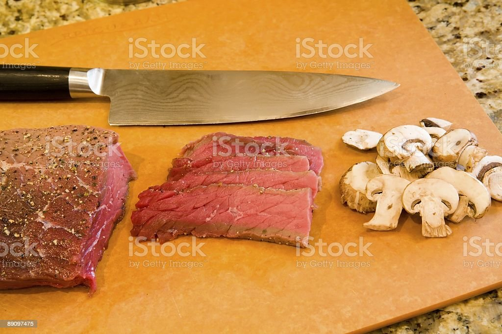 London broil with mushrooms royalty-free stock photo