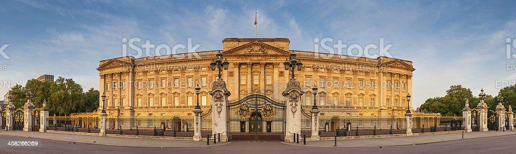 London Buckingham Palace iconic Royal landmark golden dawn light UK stock photo