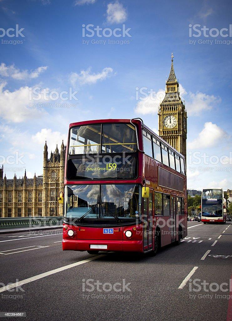 london bus and big ben stock photo