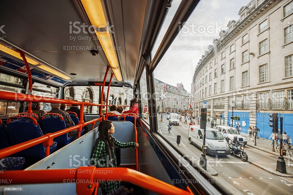 London Bus from inside royalty-free stock photo