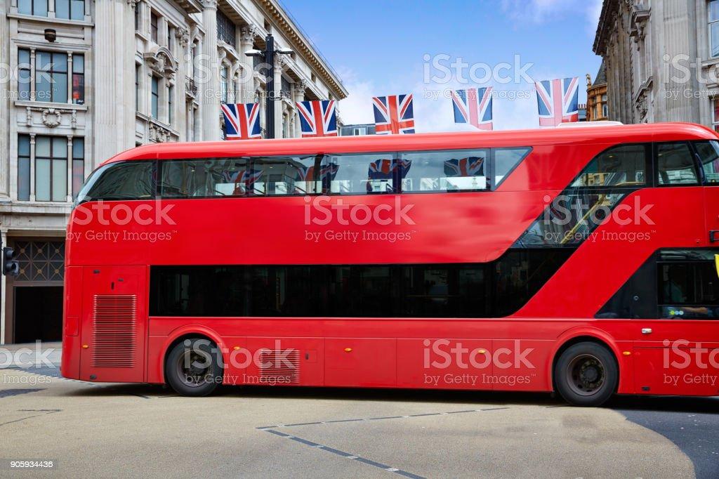 London bus Oxford Street W1 Westminster stock photo