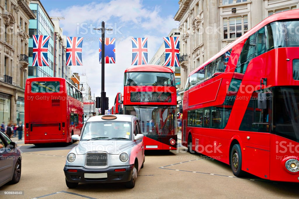 London bus Oxford Street W1 Westminster stock photo