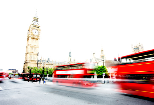 London Buses At Westminster Stock Photo - Download Image Now