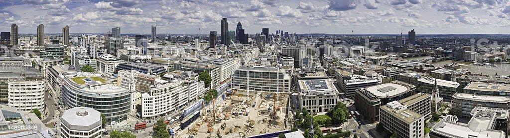 London busy cityscape panorama royalty-free stock photo