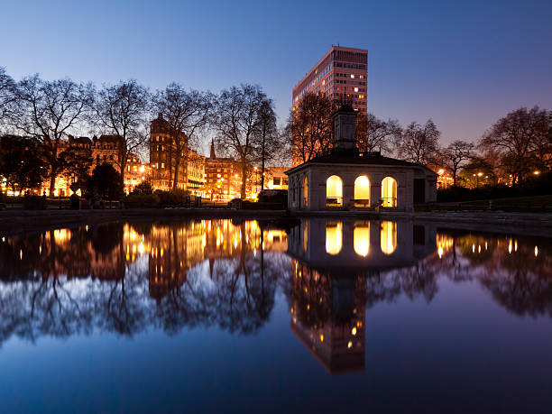 London by Night Hyde Park stock photo