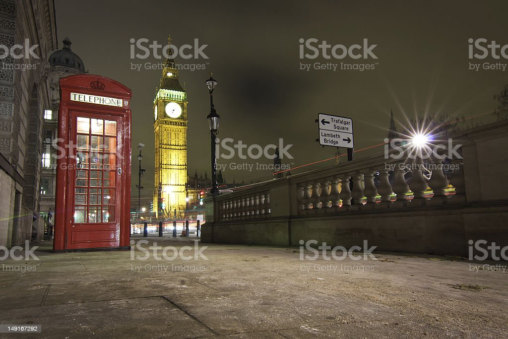 London by Night royalty-free stock photo