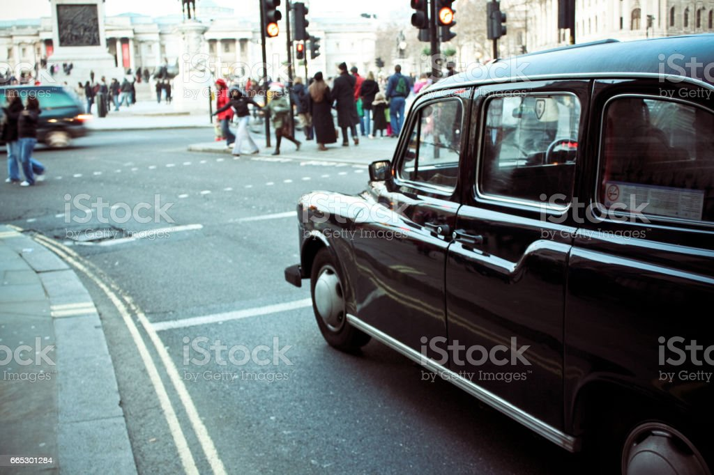London Cab stock photo