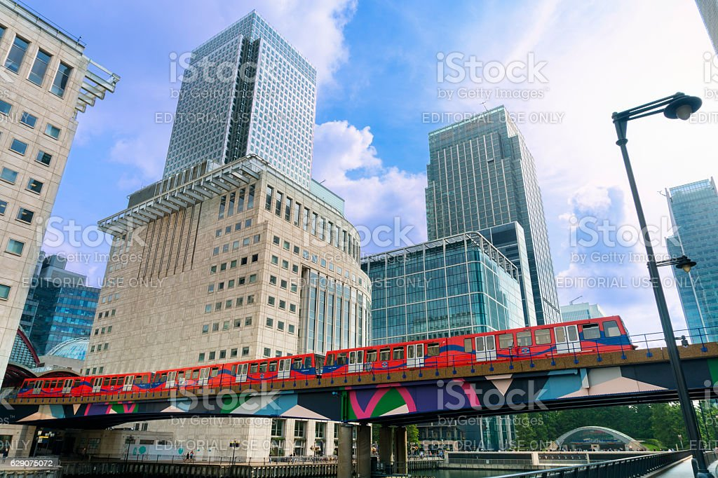 London, Canary Warf district stock photo