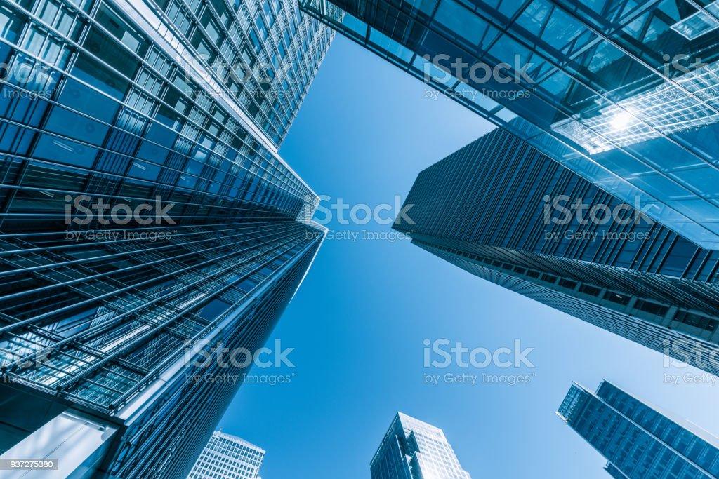 London Canary Wharf Geschäftsviertel Lizenzfreies stock-foto