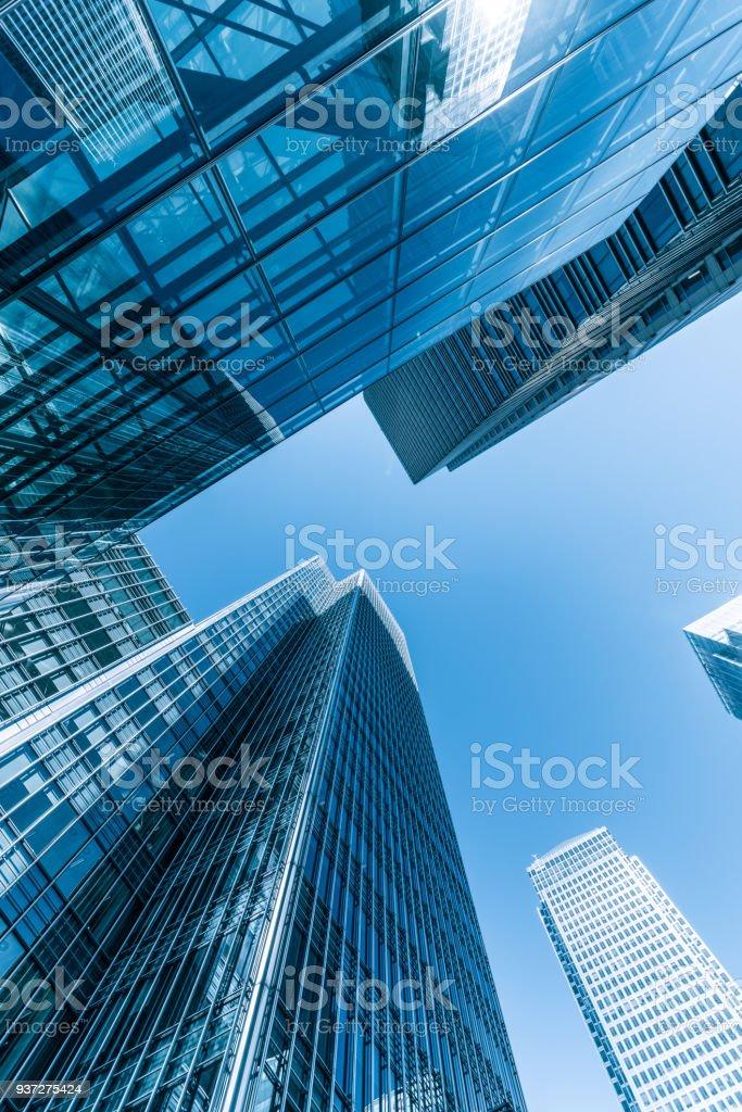 London Canary Wharf Geschäftsviertel - Lizenzfrei Arbeitsstätten Stock-Foto
