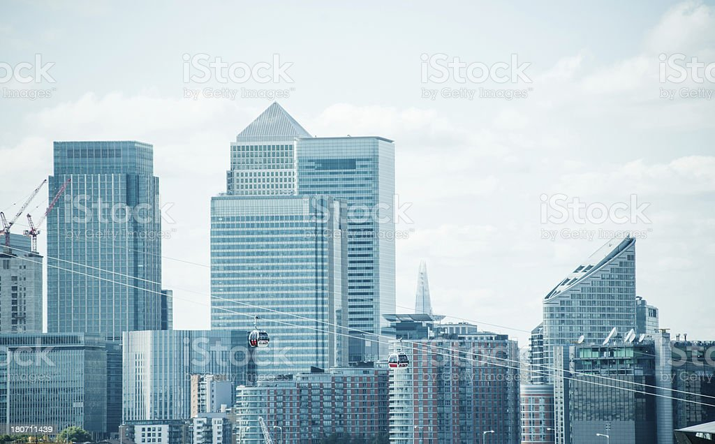 London Canary Wharf stock photo