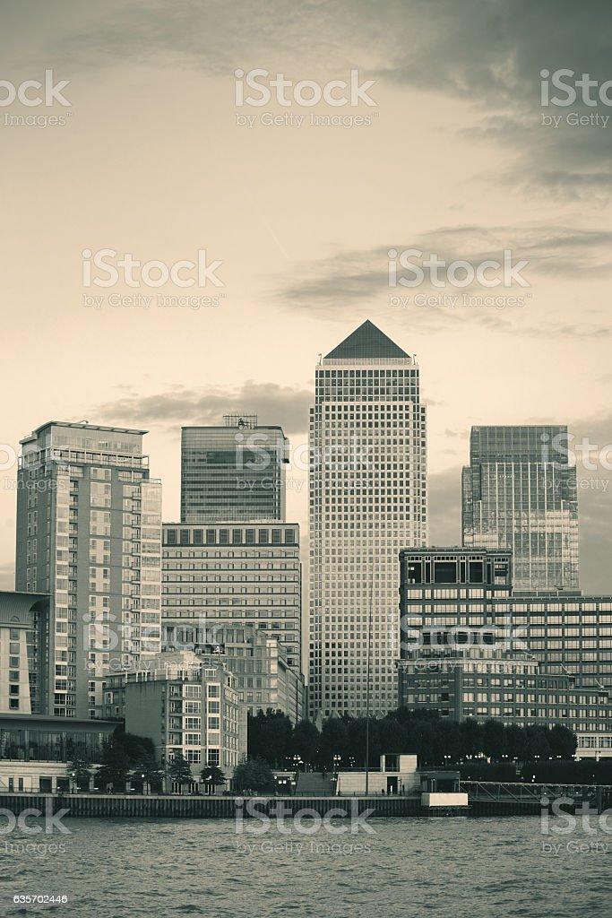 London Canary Wharf royalty-free stock photo