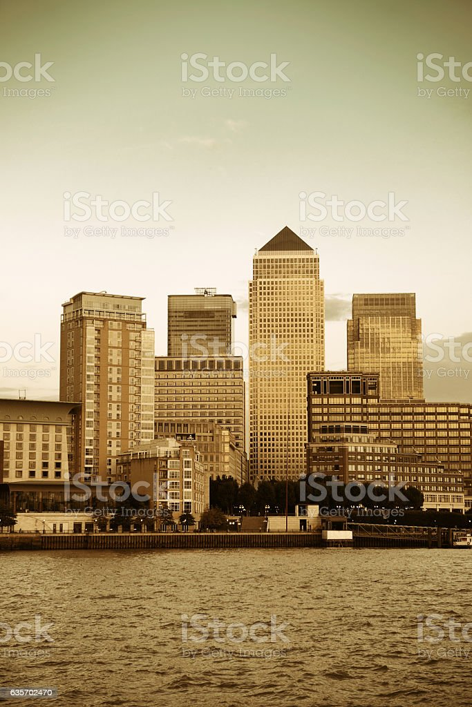 London Canary Wharf royalty-free stock photo