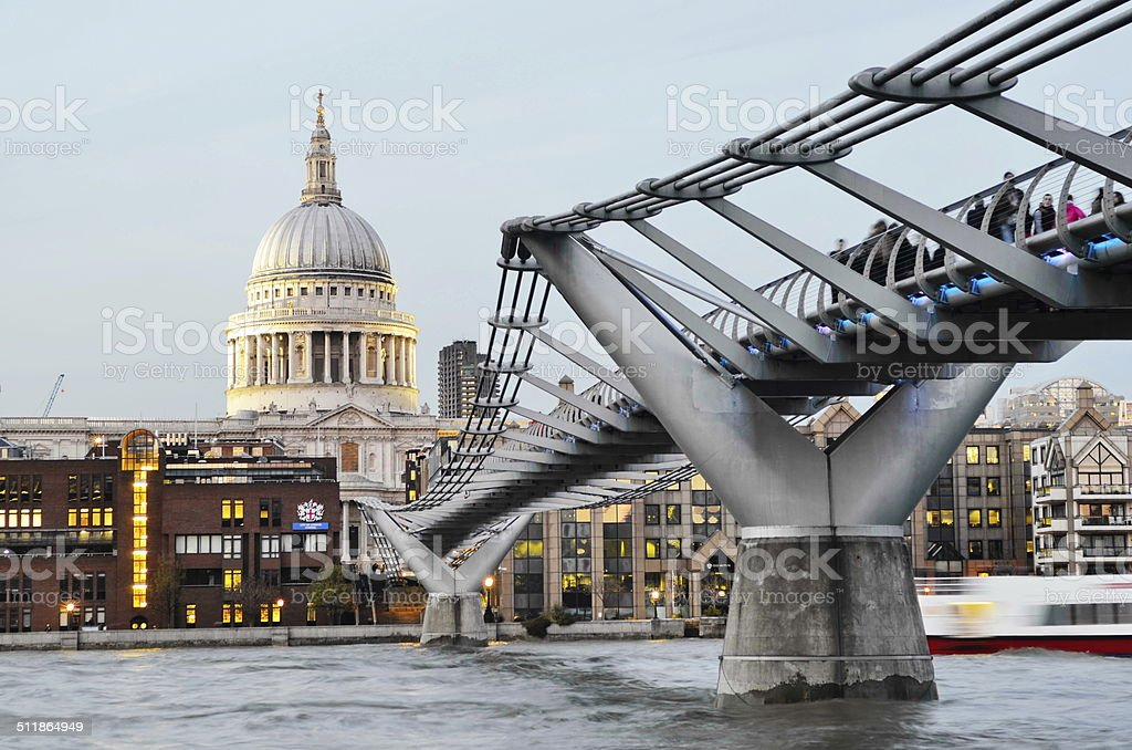London Cathedral stock photo