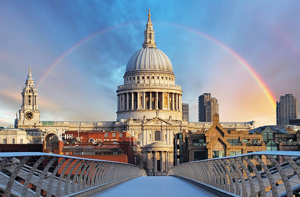 London - Cathedral St. Paiul, UK stock photo