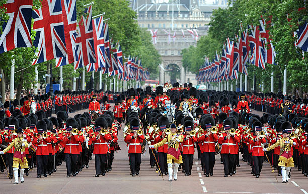 london celebration - uk military stock photos and pictures
