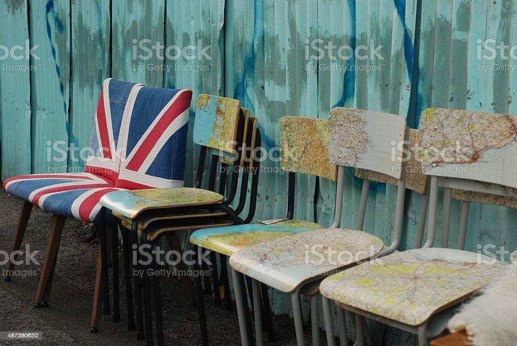 London chairs stock photo