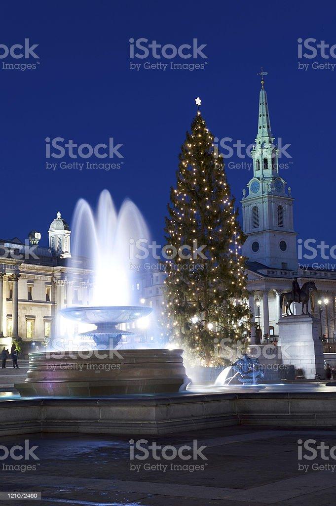 London Christmas at Night stock photo